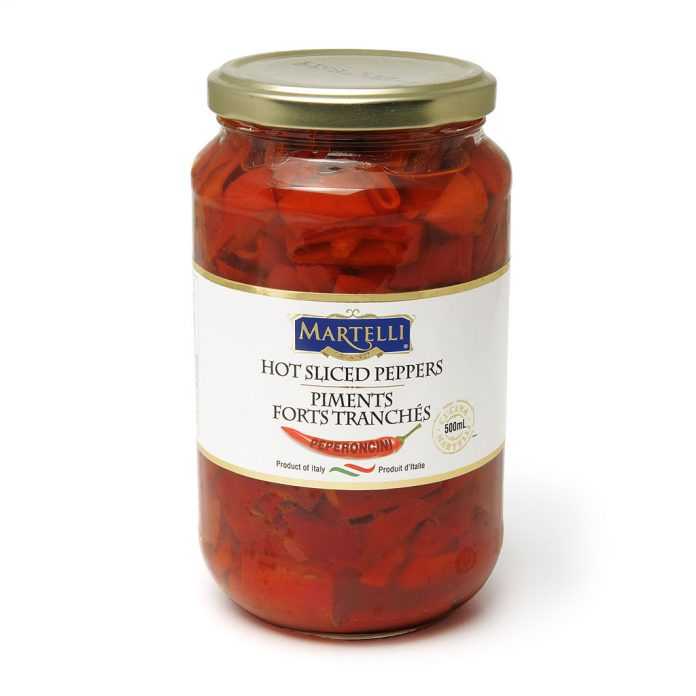 Martelli Hot Sliced Peppers 500mL MAR0207