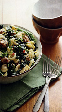 Cappelletti with Rapini and Sausage