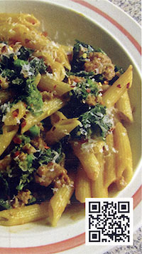 Garofalo Gluten Free Penne with Rapini and Sausage