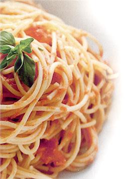 Spaghetti with Martelli DOP San Marzano Tomato Sauce