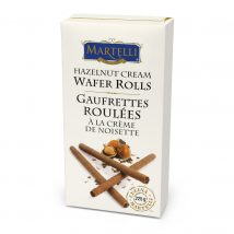 Martelli Hazelnut Cream Wafer Rolls 225g