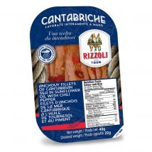 Rizzoli Spicy Anchovies in Sunflower Oil 40g RIZ81267